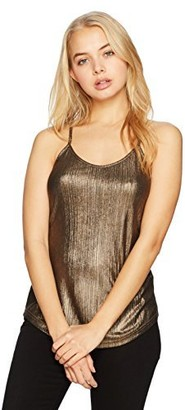 Angie Women's Textured Metallic Cami