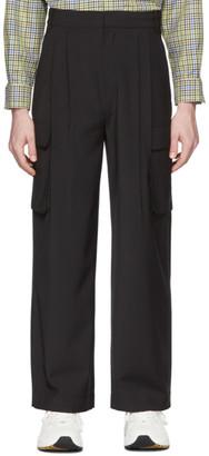 Tibi SSENSE Exclusive Black Pleated Cargo Pants