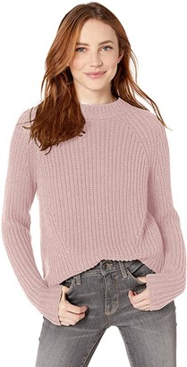 Goodthreads Amazon Brand Women's Relaxed Fit Cotton Shaker Stitch Mock Neck Sweater