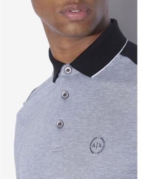AX Armani Exchange Heathered Colorblocked Polo