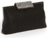 Whiting & Davis Crystal Frame Clutch - Black