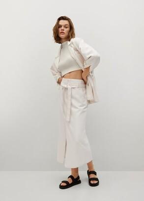 MANGO Denim belt skirt