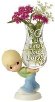 "Precious Moments Love You Lots"" Vase Boy Figurine"