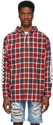 Levi's Levis Red Check Linka Hooded Shirt