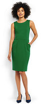Lands' End Women's Petite Ponte Sheath Dress-Meadowland Green