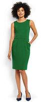 Lands' End Women's Tall Ponte Sheath Dress-Meadowland Green