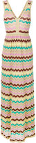 M Missoni V-neck maxi dress - women - Cotton/Polyamide/metal - 44