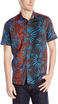 Robert Graham Men's Fireworks Short Sleeve Woven Shirt, Multi