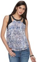 JLO by Jennifer Lopez Women's Embellished Cutout Tank