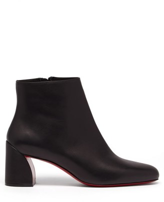 Christian Louboutin Turela 55 Leather Ankle Boots - Womens - Black