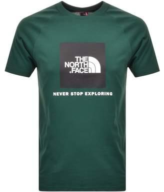 The North Face Raglan Redbox T Shirt Green