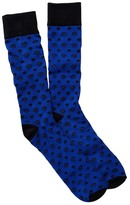 Cufflinks Inc. Blue Imperial Dot Crew Socks