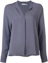 Vince longsleeved v-neck shirt - women - Silk - 0