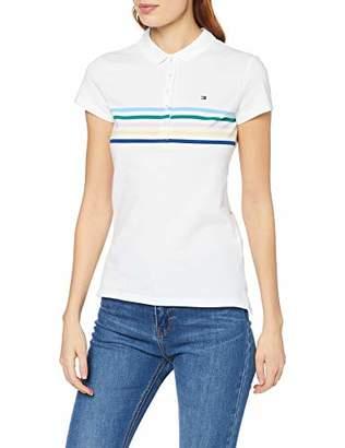 Tommy Hilfiger Women's New Chiara Str Pq Polo Ss Shirt,X-Large