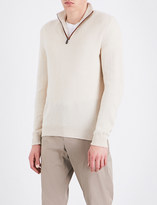 Salvatore Ferragamo Zip-detail cashmere jumper