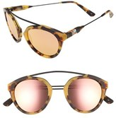 Westward Leaning Women's Olivia Palermo X 'Flower' Mirrored Sunglasses - Blue Ice Shiny/ Rose Gold