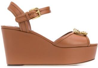Dolce & Gabbana Embellished Wedge Sandals