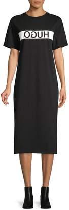 HUGO Cotton T-Shirt Dress