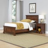 Asstd National Brand Newport Twin Bed and Nightstand