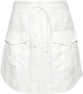 Marissa Webb Alvina silk-trimmed cotton-blend lace mini iskirt
