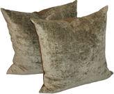 One Kings Lane Vintage Sage Plaid Pillows, Pair