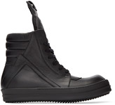 Rick Owens Black Geobasket High-Top Sneakers