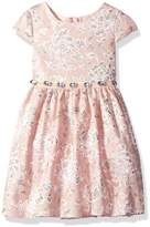 Youngland Toddler Girls' Cap Sleeve Lace Occasion Dress