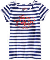 Tommy Hilfiger Striped Glitter-Graphic T-Shirt, Big Girls
