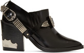 Toga Pulla Black Western Strap Boots