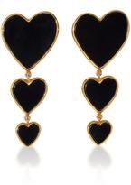 Edie Parker Triple Heart Earring