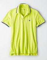 American Eagle Outfitters AE Flex Solid Polo