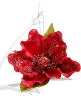 "Holiday Lane 8"" Red Flower Clip On Tree Ornament, Created for Macy's"