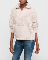 Express Cozy Kangaroo Pocket Sherpa Sweatshirt