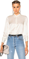 Alexander Wang Straight Cut Button Down Top in White.