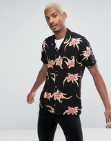 HUF Floral Print Shirt in Regular Fit