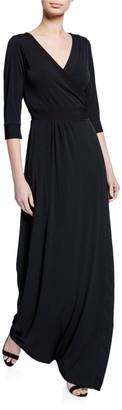 Melissa Masse Luxe Jersey 1/2-Sleeve Maxi Dress