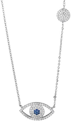 Eye Candy La Luxe Silvertone Crystal Pendant Necklace
