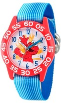 Sesame Street Boys' Red Plastic Time Teacher Watch - Blue