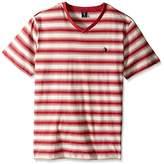 U.S. Polo Assn. Men's Short Sleeve Shadow Stripe V-Neck T-Shirt