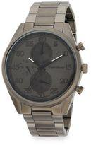 English Laundry Gunmetal-Tone Stainless Steel Bracelet Watch