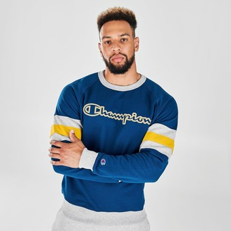 Champion Men's Arm Stripe Crewneck Sweatshirt
