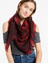 Lucky Brand Jacquard Floral Scarf