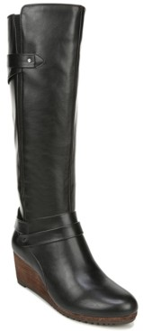 Dr. Scholl's Check It Wide Calf Tall Boots Women's Shoes