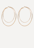 Bebe Metal Double Hoop Earrings