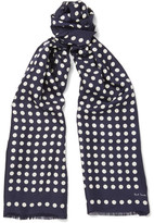 Paul Smith Polka Dot Silk-Twill Scarf