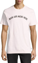 Wesc Max Mirrored-Graphic Tee, Cradle Pink