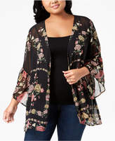 Style&Co. Style & Co Plus Size Printed Sheer Kimono, Created for Macy's