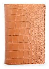ROYCE New York Women's Alligator Passport Case