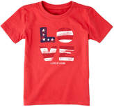 Life is Good Girls' Love Flag T-Shirt