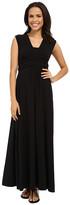 Mod-o-doc Cotton Modal Spandex Jersey Empire Shirred V-Neck Maxi Dress